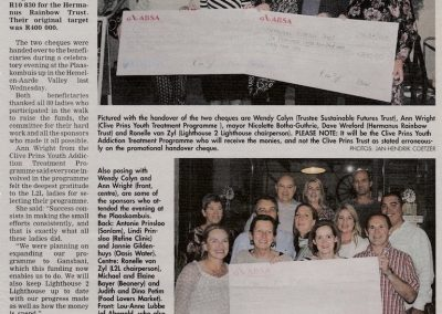 L2L 2016 Awards Eve article Hermanus Times
