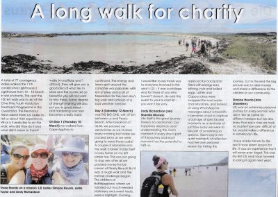 L2L 2016 Walk article Village News p1