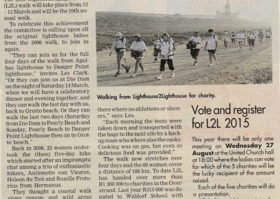 L2L Call for 10 year Walkers article Aug 2014
