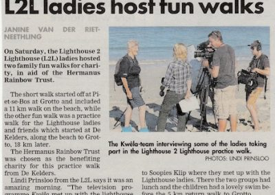 L2L Official practice Walk Feb 2016 Hermanus Times